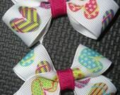 Girls Summer Pair Set of Flip Flop Hair Bows