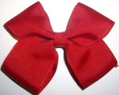"""Large Classic Red Valentines Day Hair Bow 4"""" inches"""
