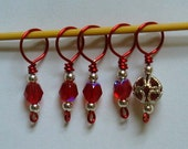 SALE  Ruby Slippers Stitch Markers
