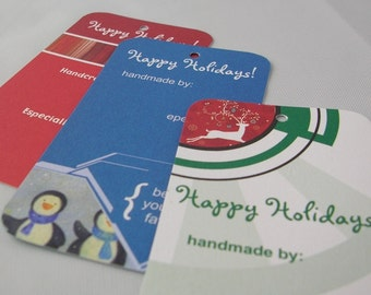 30 Fiber Friendly Gift Tags - Holiday Variety Pack