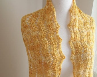 Honey Drop Lace Scarf PDF Pattern for Sock Yarn