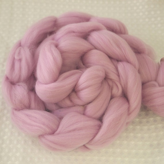 ORCHID 4 oz Solid SuperWash Merino Wool Roving