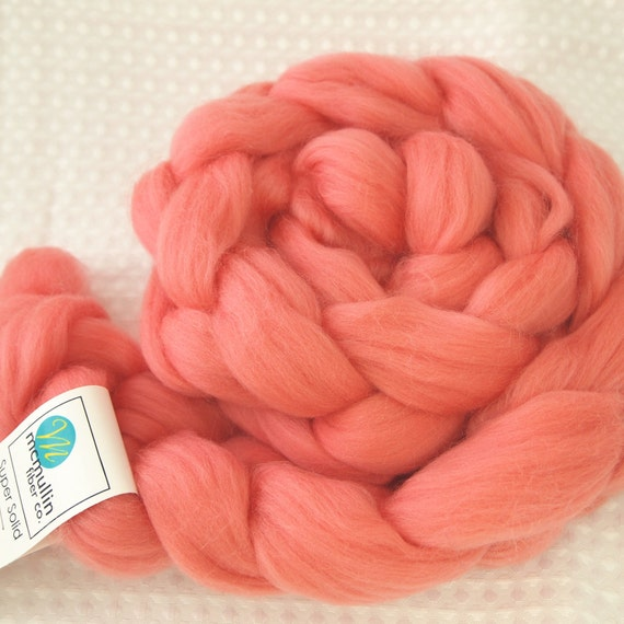 PASSION 4 oz Solid SuperWash Merino Wool Roving