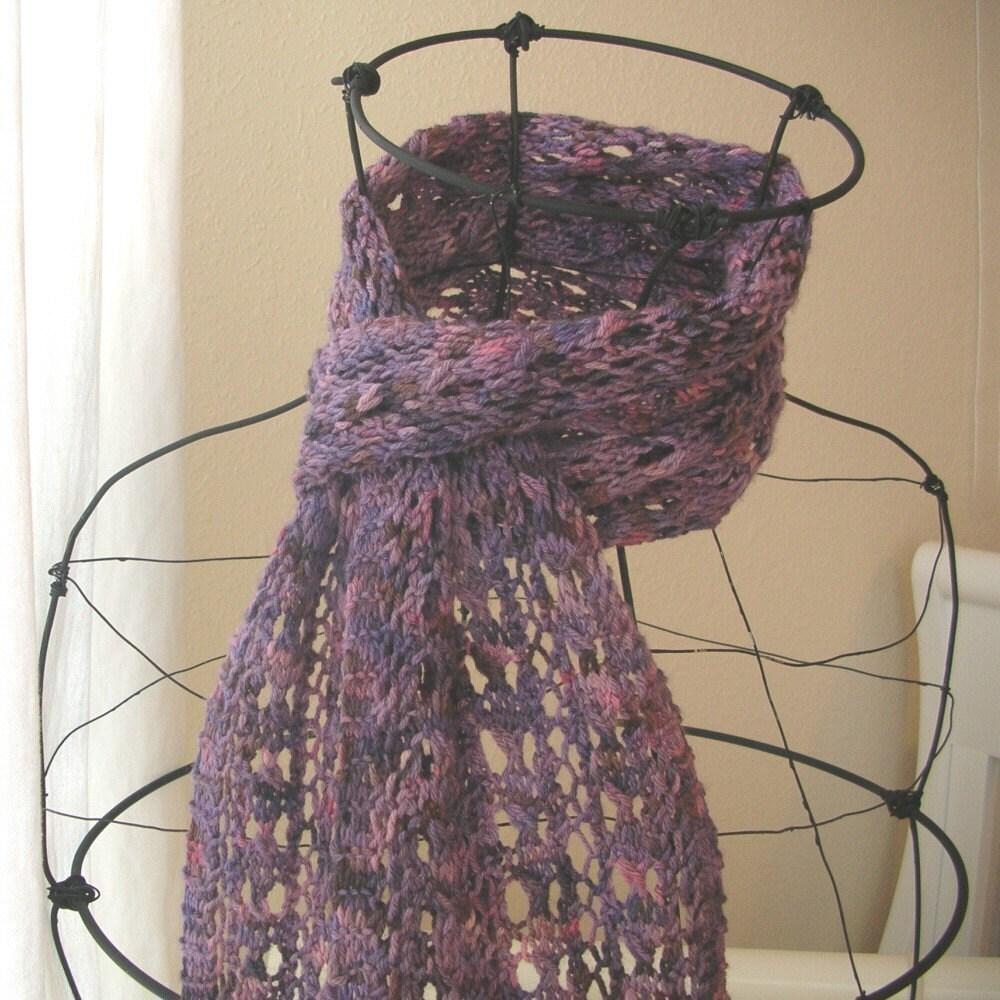 Knit Scarf Pattern Using Sock Yarn : Beehive Lace Scarf PDF Pattern for Sock Yarn