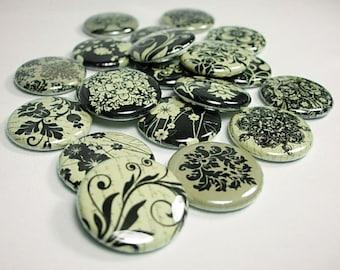 20 Vintage Inspired Damask Buttons