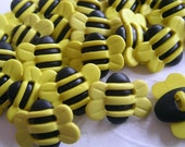 20x HONEY BEE BUTTONS 19x14 mm - Code 88030
