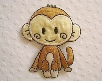 LOVELY MONKEY Iron On Patch 60x75mm (3x2.25 inches) - Code PC001