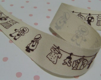 1 meter (39 inches) x 20mm width Japanese Label Sewing Tape - Code S-027