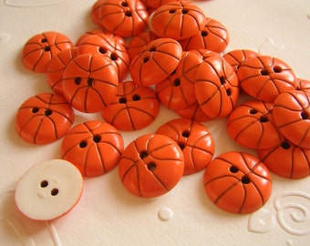20x BASKET BALL BUTTONS 15x15mm - Code 88048