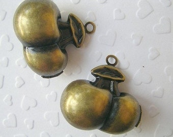CHERRY LOCKETS 25x30mm (antique brass) - Code 171