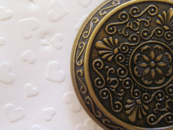 4x GIANT Classic Locket 45mm (in antique brass tone) Code 114 - reserved for the buyer namely sil