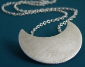 LAST ONE - Large 3-in-1 Crescent Moon pendant in sterling silver, chain not included
