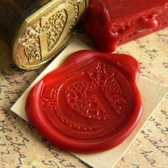 Art Nouveau Letter  - Wax Seal Stamp
