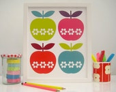 Folk Apples - unframed print