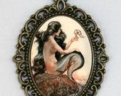Mermaid necklace parisian art nouveau deco victorian DIY