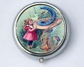 Alice in Wonderland caterpillar PILL case box holder victorian  fairytale DIY