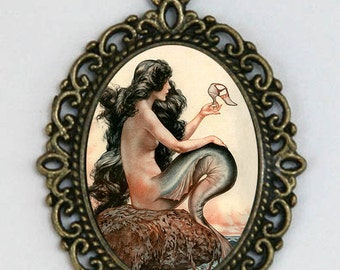 Mermaid necklace parisian art nouveau deco victorian DIY