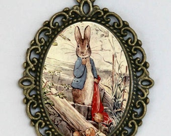 Benjamin Bunny necklace pendant fairytale rabbit story