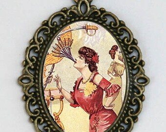 Women Swallowing Swords DIY necklace victorian circus freak performer obscure