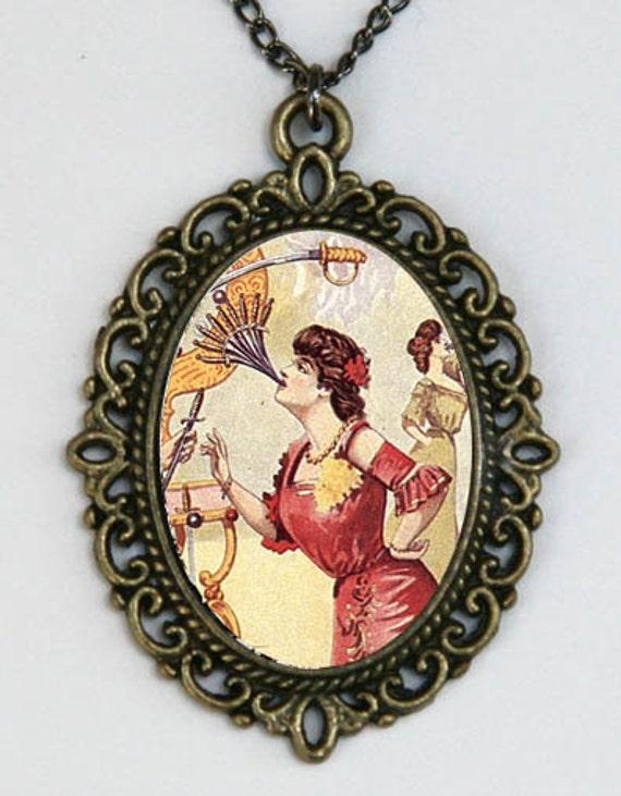 Women Swallowing Swords DIY necklace victo