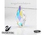 6 pcs 13mm Clear AB Swarovski Crystal 6010 Briolette Tear Drop