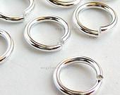 10 pcs 7mm 18 Gauge Sterling Silver Open Jump Rings F29