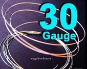 20 feet 30 Gauge 925 Sterling Silver Round Wire Half Hard (HH)