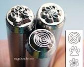 Spiral -Paw- Pin Wheel - Fun Stuff - Metal Jewelry Stamping Punch Tool
