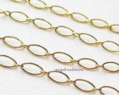 2 feet 5mm 14K Gold Filled Chain Oval Long and Short Links Loose Chain CH59
