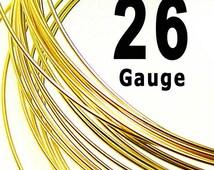 20 feet 26 Gauge 14K Gold Filled 14/20 Wire Dead Soft DS