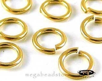 50 pcs 5mm 20 Gauge GOLD FILLED Jump Rings Open Connectors F29GF