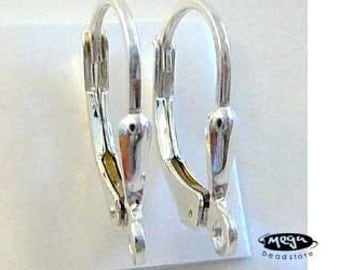 4 pcs 925 Sterling Silver Leverback Ear Wire Earring Finding F18