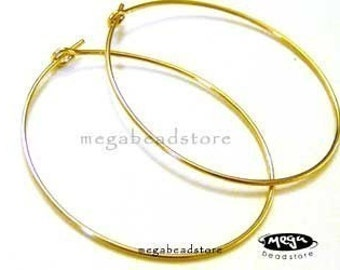 5 Pairs 25mm 14K Gold Filled Beading Hoop Earwires Round Earring F215GF