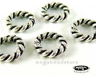 6 pcs 925 Sterling Silver Spacer Beads Large Hole Fit 3mm Bracelet S41
