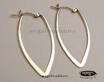 Gold Filled Hoop Earring Large Drop Ear Wire 48mm F204GF-L