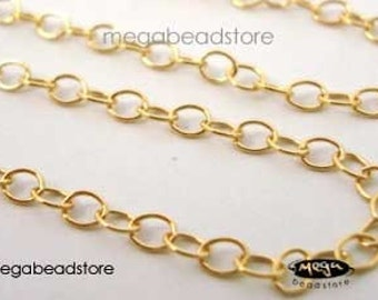 4 feet 14K Gold Filled Cable Chain Loose Chain 2.5mm x 2mm CH4