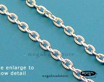 30 inch 2.5mm Patterned Loose Chain Heavy Weight 925 Sterling Silver CH37