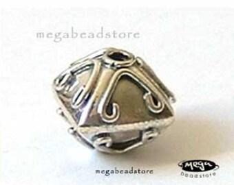 2 pcs Bali Sterling Silver Beads Pyramid Shape B03