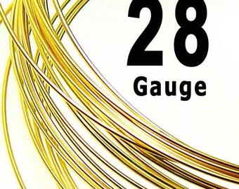 10 feet 28 Gauge 14K Gold Filled Wire Half Hard HH