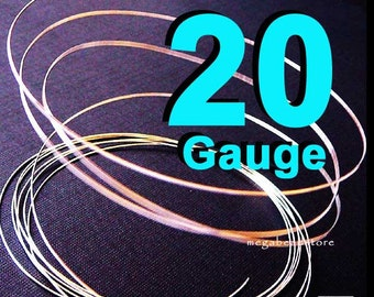 3 feet 20 Gauge Sterling Silver 925 Wire  Half Hard (HH) Round