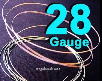 20 feet 28 Gauge Sterling Silver Wire Round Dead Soft (DS)