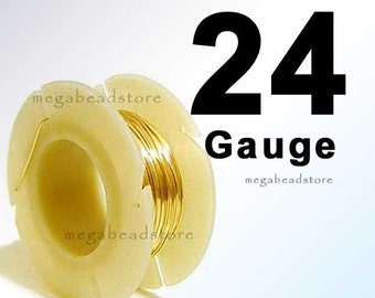 28 feet 0.5 oz. 24 Gauge 14K Gold Filled Wire for Wire Wrapping Dead Soft (DS)