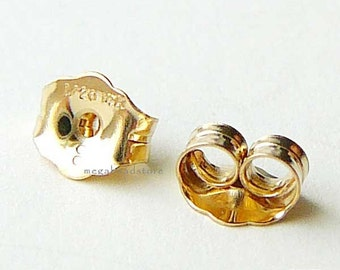 14K Gold Filled Earring Post Backing Findings F76GF - 20 pcs