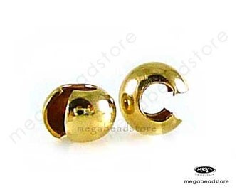 20 pcs 4mm 14K Gold Filled Crimp Bead Cover F59GF