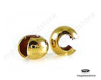 100 pcs 3mm 14K Gold Filled Crimp Bead Cover F59GF