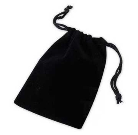Black Velvet Velour Jewelry Pouch 3 x 4 Drawstring Bags 10