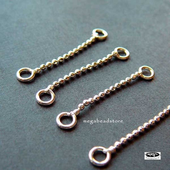 18 pcs 1 inch 925 sterling silver bead chain connectors f379