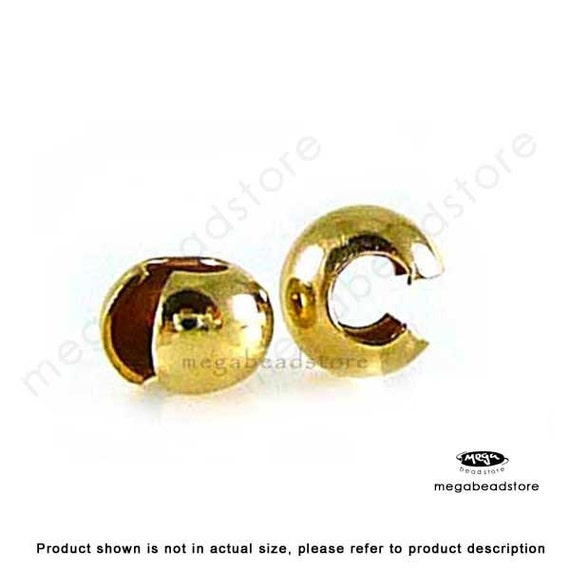 25 pcs Gold Filled Crimp Bead Cover 3mm F59GF-3