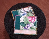 Quilted Mug Rugs -  Portofino in the Tropics -  Set of 2