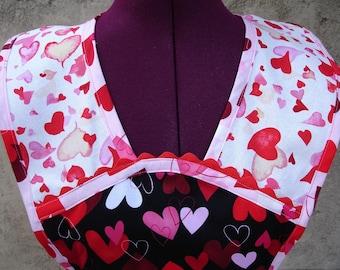 Vintage Style Apron - Hearts - Vintage/Retro/Flirty Style